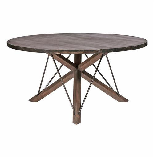 Modern Rustic Dining Table: Works Industrial Loft Wood Iron Modern Rustic Dining Table