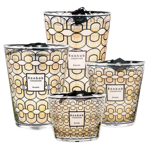 Baobab Collection Modern Brussels Art Deco Candle - Small | Kathy Kuo Home