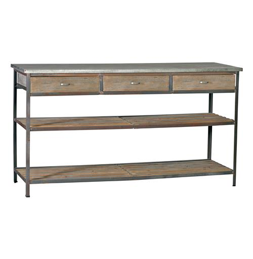 Kitchen Table Drawers: Nicholas Industrial Loft Kitchen Island Console Table With