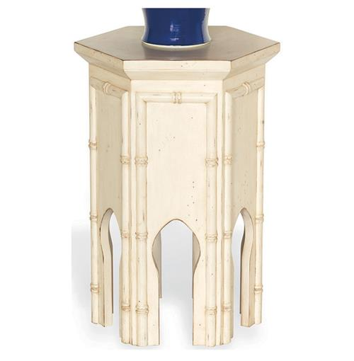 Algiers Moroccan Style Ivory Contemporary Tea Accent Table - 23H | Kathy Kuo Home