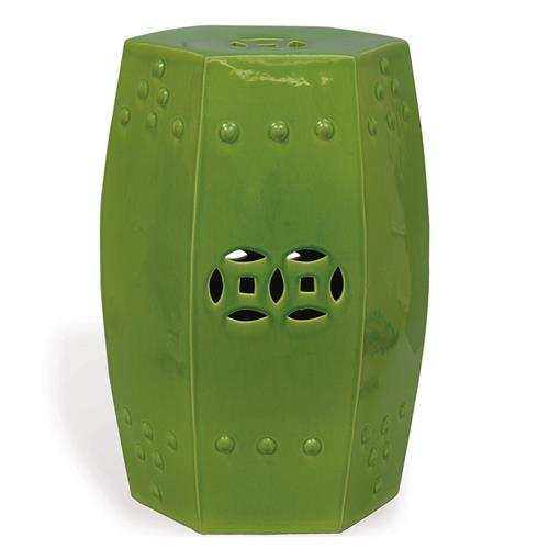 Green Apple Modern Asian Garden Seat Bunching Stool | Kathy Kuo Home