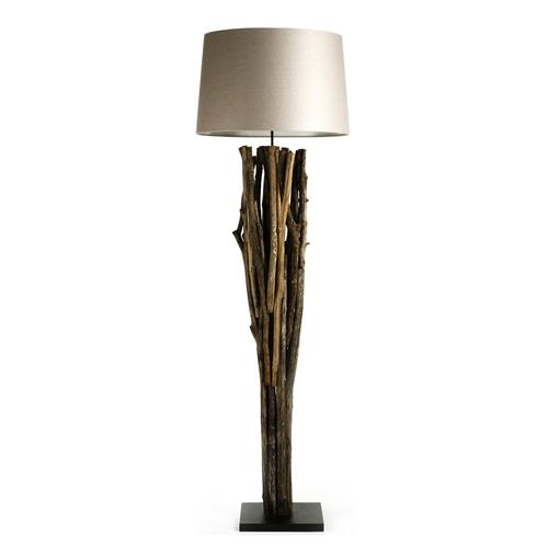 Catico Modern Rustic Vine Wood 70 Inch Floor Lamp | Kathy Kuo Home