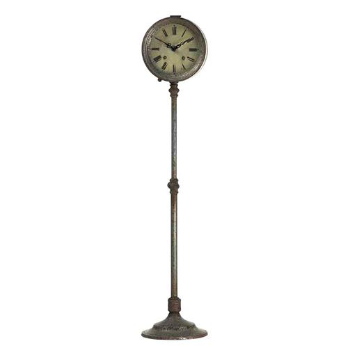 Vintage Reproduction Adjustable Height Industrial French Floor Clock | Kathy Kuo Home