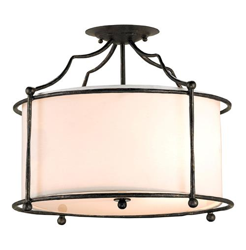 Old Bronze Contemporary 3 Light Ceiling Mount Light | Kathy Kuo Home