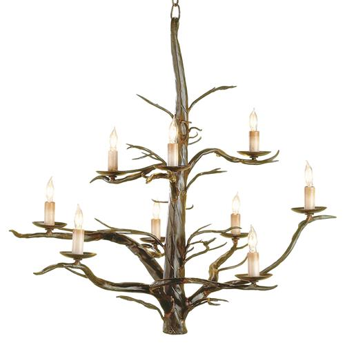 Sculpted Wrought Iron Branches 9 Light Chandelier | Kathy Kuo Home