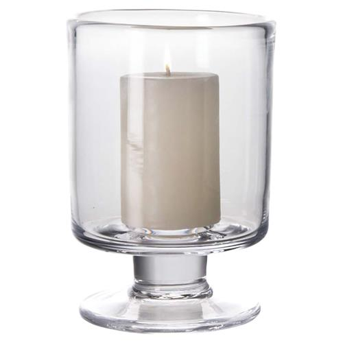 Simon Pearce Modern Classic Nantucket Glass Candle Holder - Small | Kathy Kuo Home