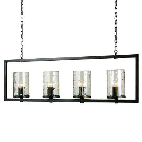Glacerie Rectangular Modern 12 Light Island Chandelier | Kathy Kuo Home