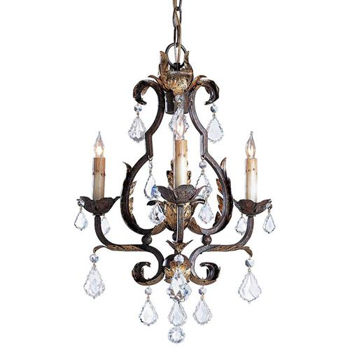 Tuscan Elegant Swarovski Crystal 3 Light Chandelier | Kathy Kuo Home