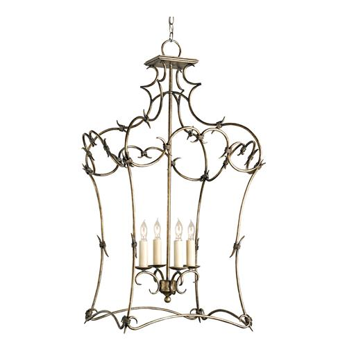 "Morena Neo Baroque ""Barbed Wire"" 4 Light Open Lantern Pendant 