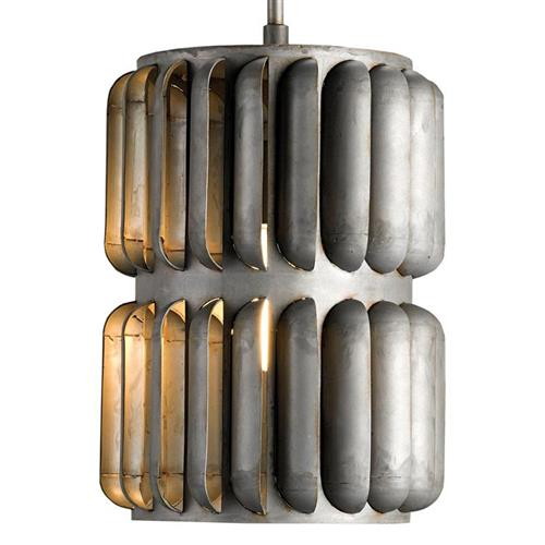 Turbina Industrial Wind Turbine 1 Light Sculptural Pendant | Kathy Kuo Home