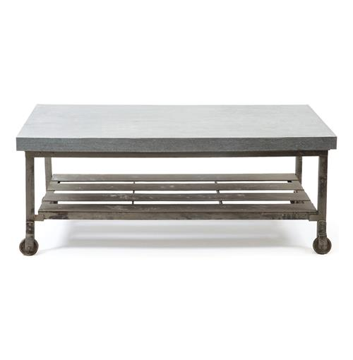 Rollins Industrial Loft Bronze Iron Coffee Table: Steeltown Industrial Loft Galvanized Steel Coffee Table