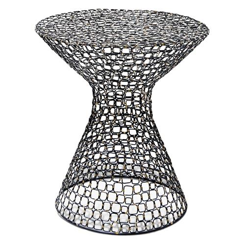 Dendara Modern Hourglass Sculptural Wire Frame Table | Kathy Kuo Home