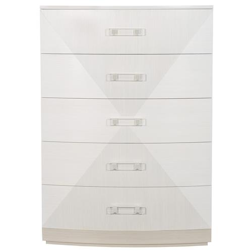 Lucille Modern Classic White Gey Wood Tall Tallboy Chest | Kathy Kuo Home