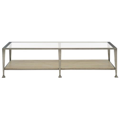 Stainless Steel And Wood Coffee Table: Sarabeth Modern French Glass Stainless Steel Wood