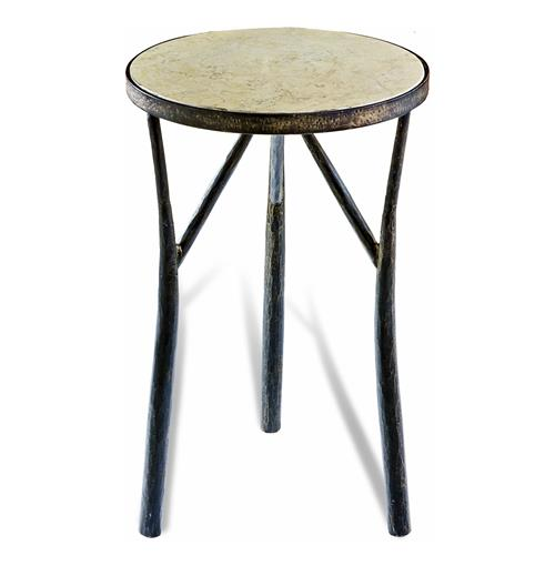 Madison Rustic Forged Iron Side Table | Kathy Kuo Home