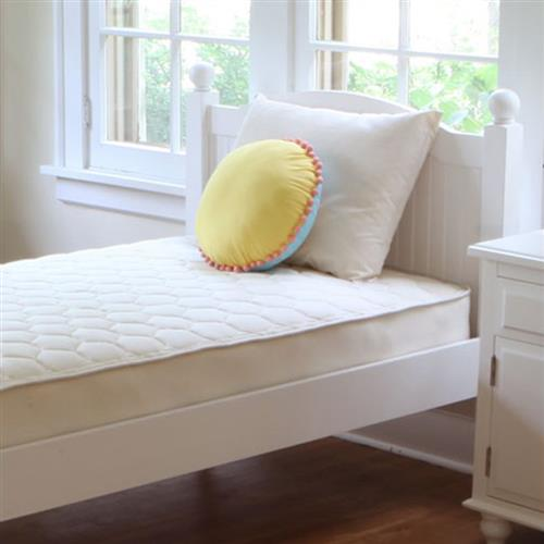 Naturepedic Modern Quilted Organic Cotton Deluxe 2-Sided Kids Mattress - Queen | Kathy Kuo Home