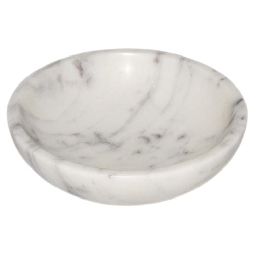 "Pax Modern Classic Purple & White 4"" Marble Bowl 