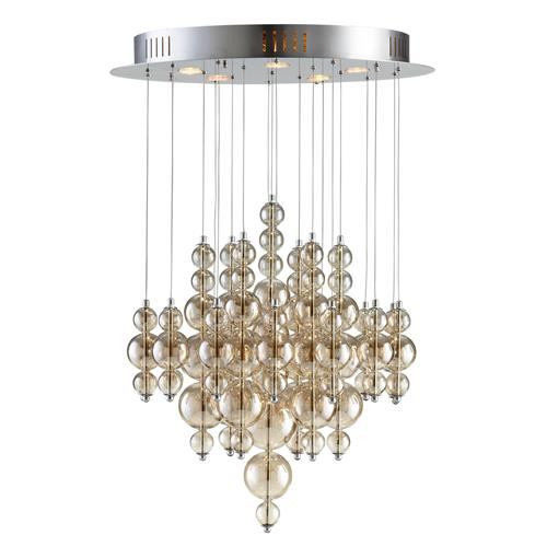 Bubbles Smokey Brown Glass Balls Murano Style Ceiling Mount - 5 Light | Kathy Kuo Home