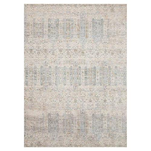 Marjorie Modern Classic Power Loomed Pale Blue Rug - 2x3"
