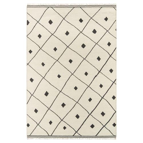 Erin Gates Appleton Modern Ivory Black Diamonds Geometric Rug- 2'x3' | Kathy Kuo Home