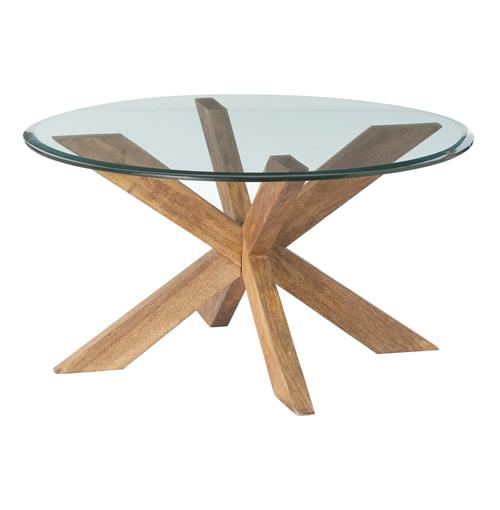 Genève Wood Glass Danish Modern Coffee Table | Kathy Kuo Home
