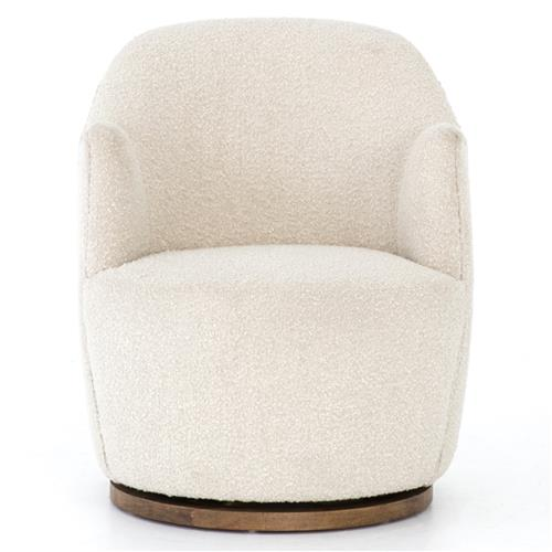 Rich modern classic cozy off white upholstered swivel base - Modern upholstered living room chairs ...