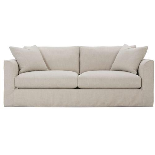 Danny Modern Classic Bone White Slipcovered Sofa