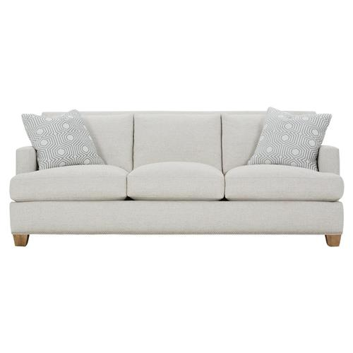 Modern Nailhead Sofa: Leandra Modern Classic Grey Upholstered Nailhead Trim Sofa