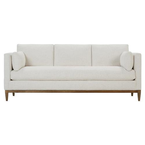 Leah Modern Bone White Upholstered, White Modern Sofa
