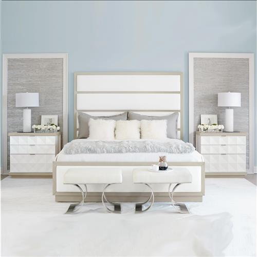 Lucille Modern Classic White Bedroom Collection