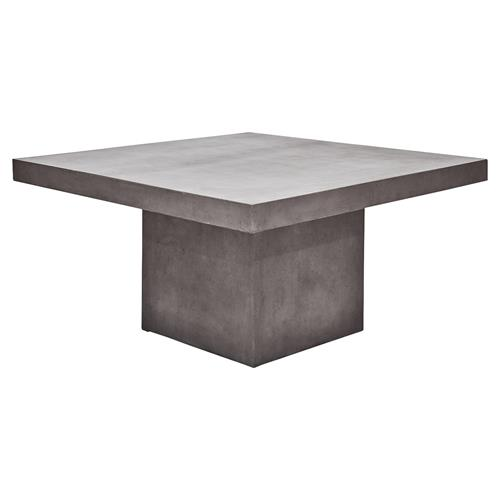 Gary Modern Grey Square Outdoor Dining Table | Kathy Kuo Home
