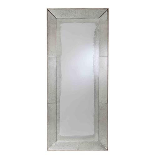 Arteriors Vera Antiqued Mirror Contemporary Floor Mirror | Kathy Kuo Home