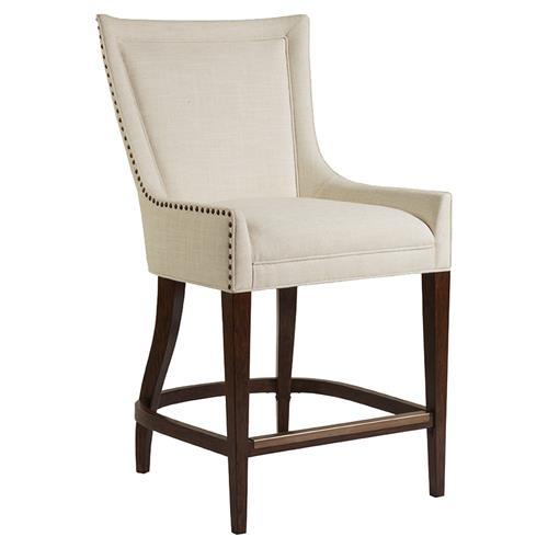 Artistica Josephine Modern Ivory Linen Upholstered Solid