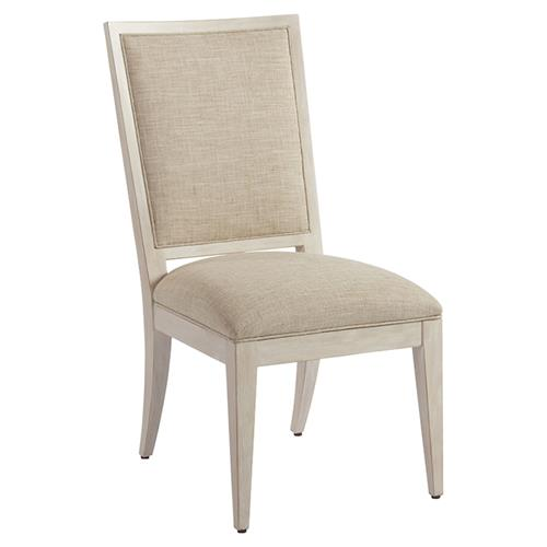 Barclay Butera Eastbluff Modern Upholstered Whitewash Dining Side Chair - Beige | Kathy Kuo Home