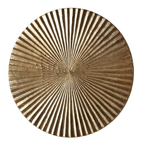 Apollo metallic silver modern wood circle wall art decor