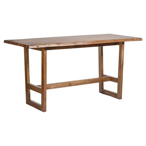Ester Modern Classic Live Edge Wood Narrow Dining Table | Kathy Kuo Home