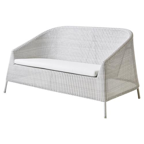 Cane-line Kingston Modern Stackable White Cushion Outdoor 2 Seater Sofa