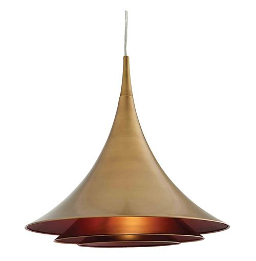 Vesper Modern Industrial Antique Brass Cone Pendant Light | Kathy Kuo Home