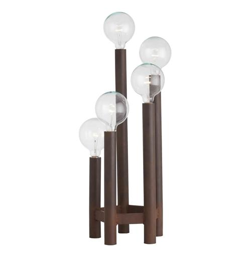 Webster Unique Iron Pole 5 Light Torch Lamp Torchiere Lamp | Kathy Kuo Home