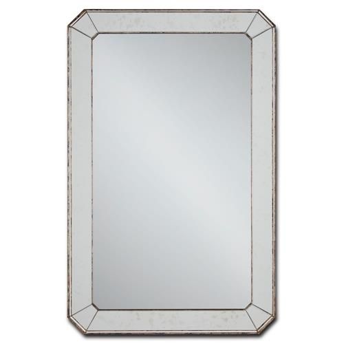 Hollywood Regency Antique Mirror Classic Bevel Cut Wall Mirror | Kathy Kuo Home