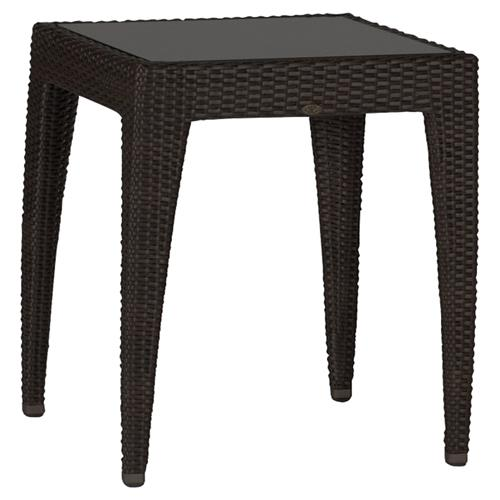 Fabulous Summer Classics Athena Modern Black Woven Outdoor High End Table 24 Inch Caraccident5 Cool Chair Designs And Ideas Caraccident5Info