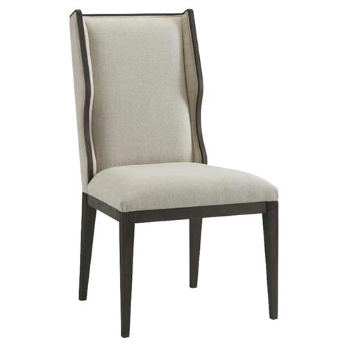 Theodore Alexander Modern Classic Della Grey Wood Wingback Dining Chair | Kathy Kuo Home