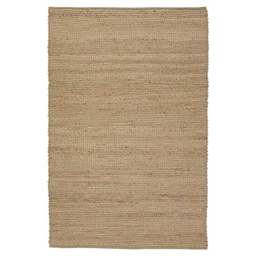 Bella Modern Brown Hand Woven Reversible Jute Rug - 5' x 7'6 | Kathy Kuo Home