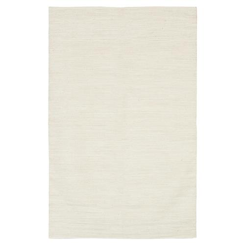 Layla Modern White Hand Woven Cotton Rug - 2' x 3' | Kathy Kuo Home