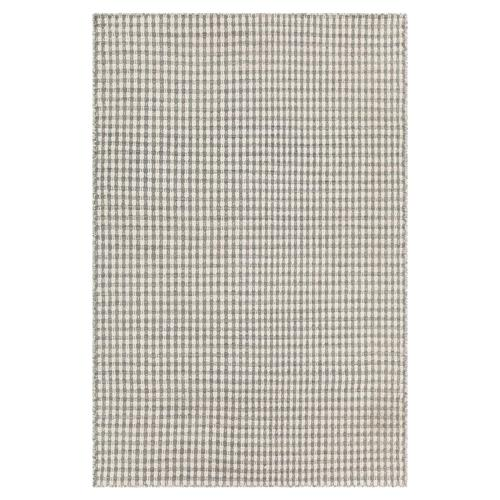 Maisie Modern Grey White Hand Woven Flat Weave Rug - 7'9 x 10'6 | Kathy Kuo Home