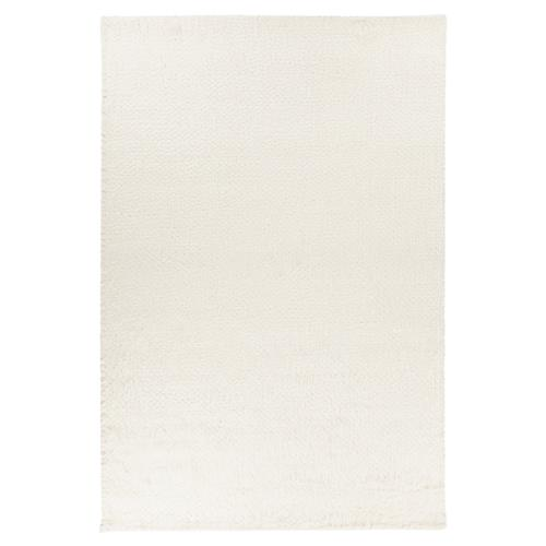 Phoebe Modern White Hand Woven New Zealand Wool Rug - 5' x 7'6 | Kathy Kuo Home