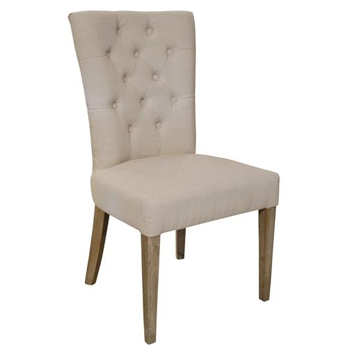 Faubourg French Country Tufted Side Dining Chair | Kathy Kuo Home