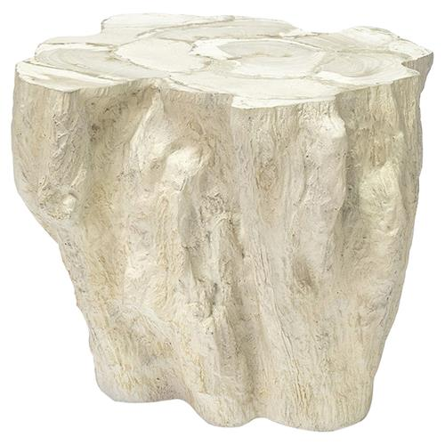 Palecek Camilla Coastal Beach White Inlaid Fossilized Clam Side End Table | Kathy Kuo Home