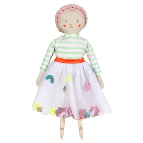 Whimsical Doll Toy Wearing a Striped Shirt