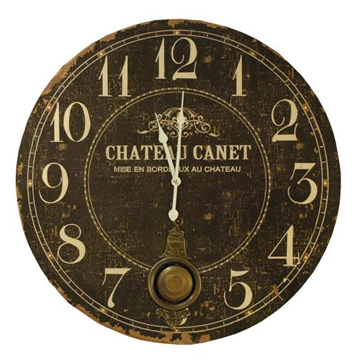 Chateau French Country Antique Brass Large Wall Clock | Kathy Kuo Home